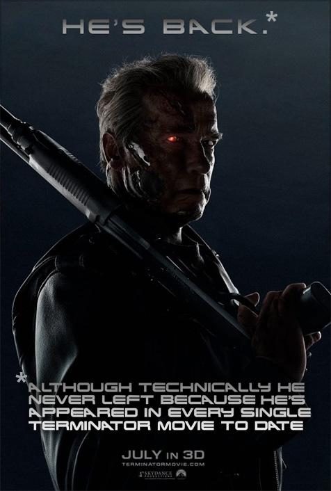 A slight addendum to the new poster for Terminator Genisys
