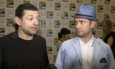 Andy Serkis and Martin Freeman, the style-challenged crimefighting duo