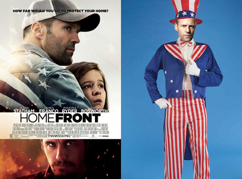 Homefront poster raises questions about Statham's wardrobe assistant