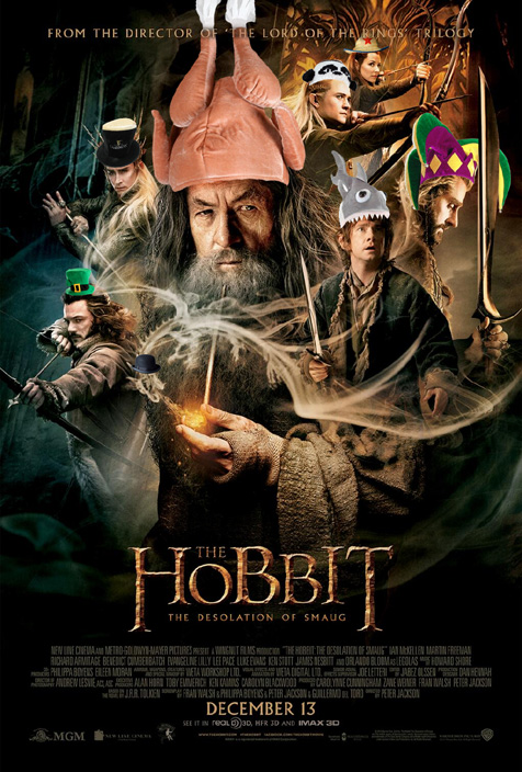 If every character on the new Hobbit poster was wearing a fun little hat