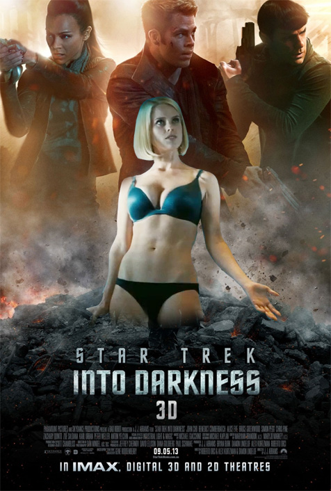 If the new Star Trek poster was as subtle as the new Star Trek trailer