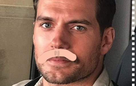 Important investigation: what would Henry Cavill's Superman look like with a moustache?