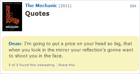 Mechanic Quotes Glamorous Just A Reminder That This Quote From Jason Statham's The Mechanic