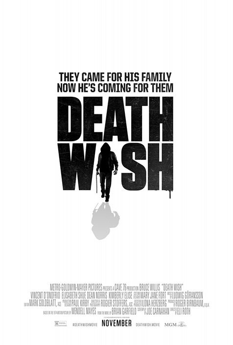 Check out the poster for Bruce Willis' new movie, Death Wash