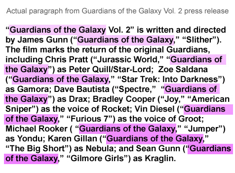 Shock: Guardians of the Galaxy Vol. 2 made by same people as Vol. 1