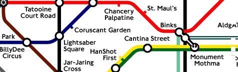 Star Wars in the UK: the London Underground feels the Force