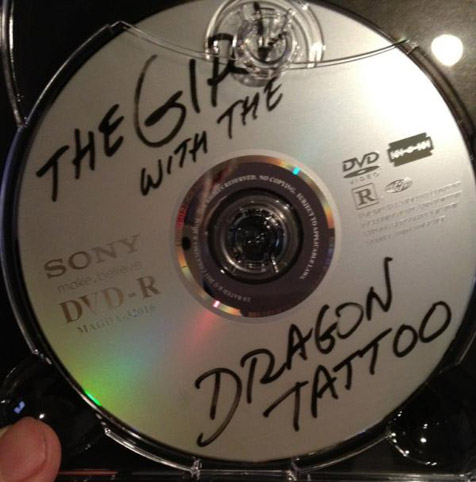 This is what David Fincher's official Dragon Tattoo DVD looks like