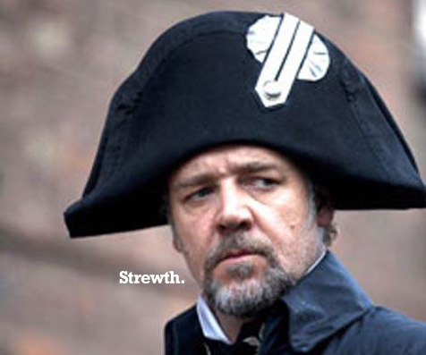 Tuesday LOL: Russell Crowe has a wang on his hat